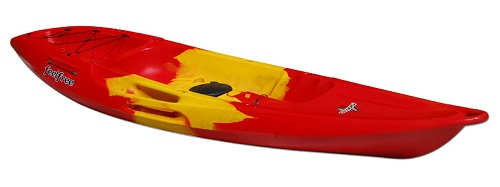 Red/Yellow/Red Feelfree Nomad Sport sit on top kayak