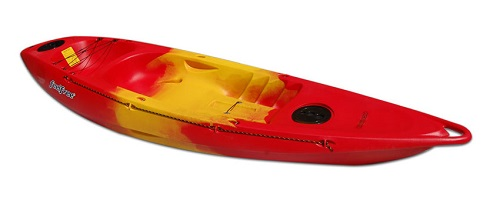 Red/Yellow/Red Feelfree Roamer 1 sit on top kayak